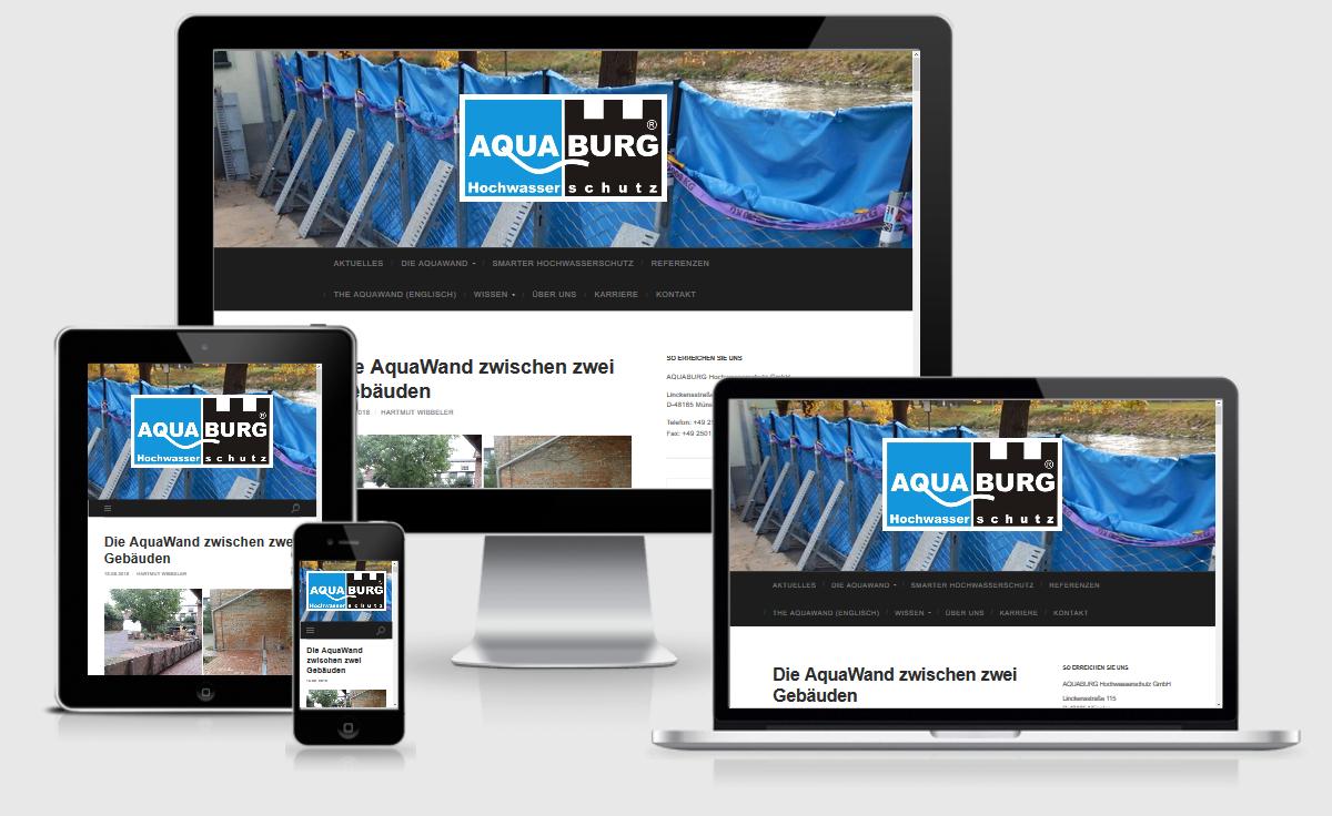 Webdesign Münster-Osnabrück: Referenz AQUABURG