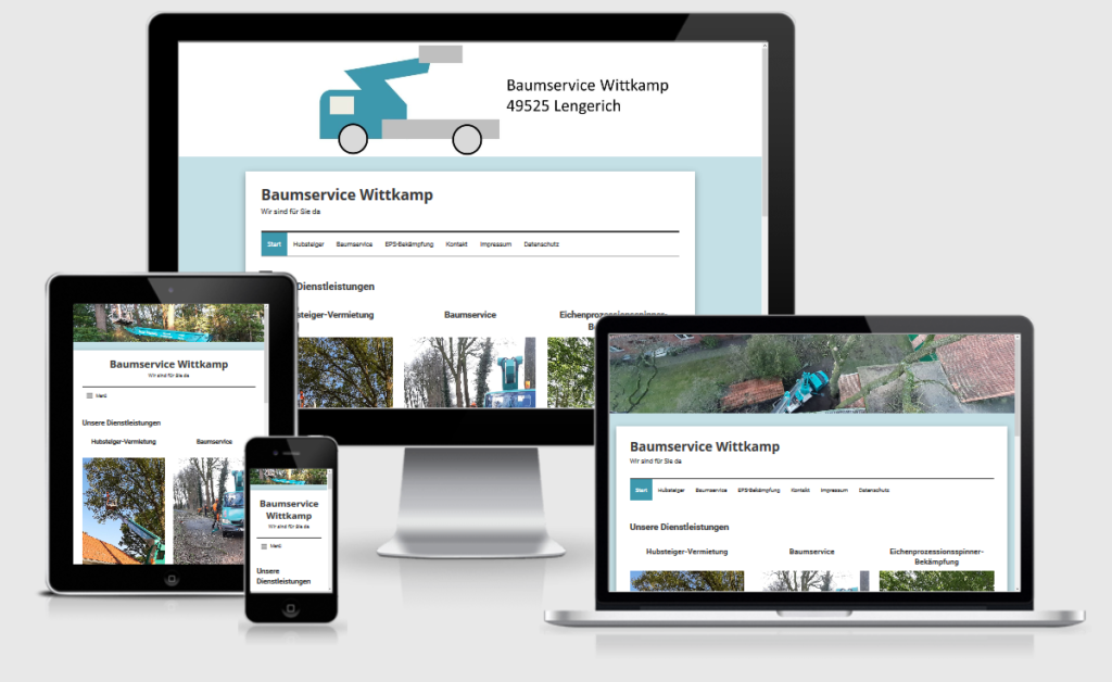 Webdesign Münster-Osnabrück: Referenz Baumservice Wittkamp