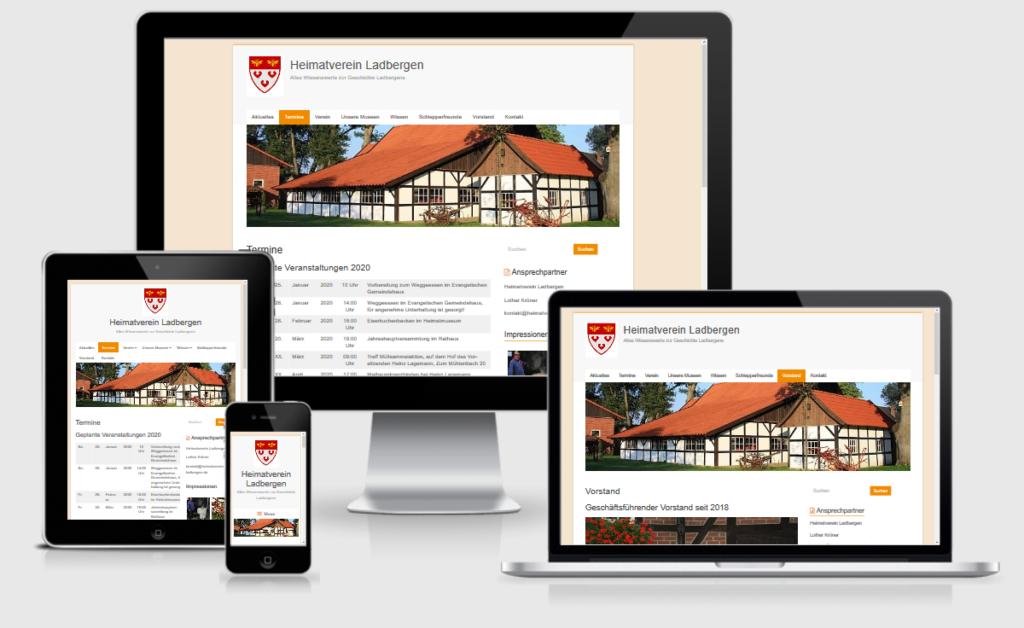 Webdesign Münster-Osnabrück: Referenz Heimatverein Ladbergen