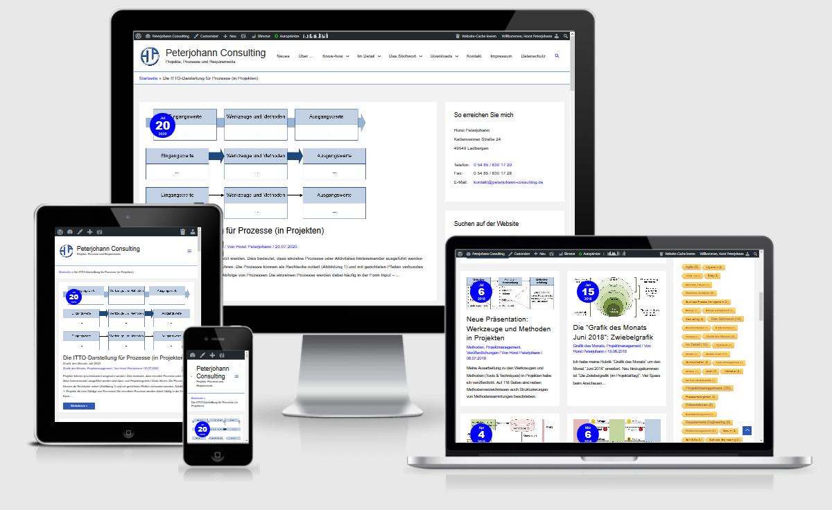 Webdesign Münster-Osnabrück: Referenz Peterjohann Consulting